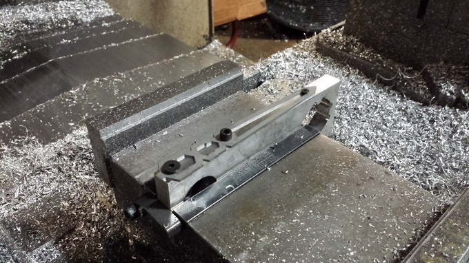 Final Tiletto prototype getting ready to be milled.