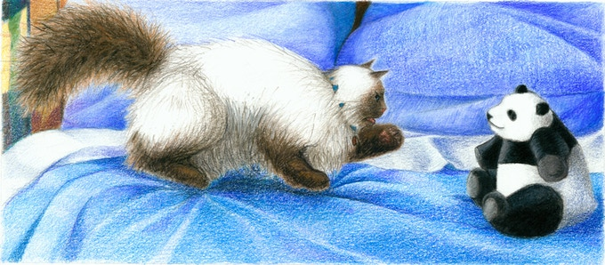 "Original art reward #13 ""A cat's opinion"" see reward listing at right...."