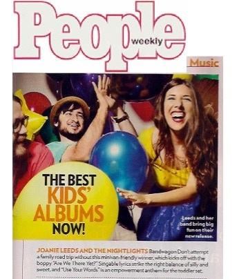 My last Kickstarter funded CD, 'Bandwagon', was chosen as People Magazine's TOP KIDS CD of 2013