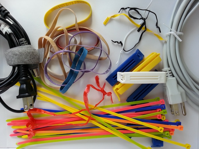 Velcro Strap, Rubberbands, Ties, Clips And Straw