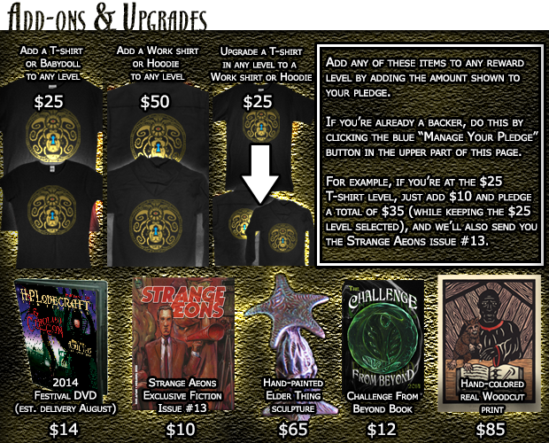 All of our current add-ons and upgrades. Scroll down for more info about each one.