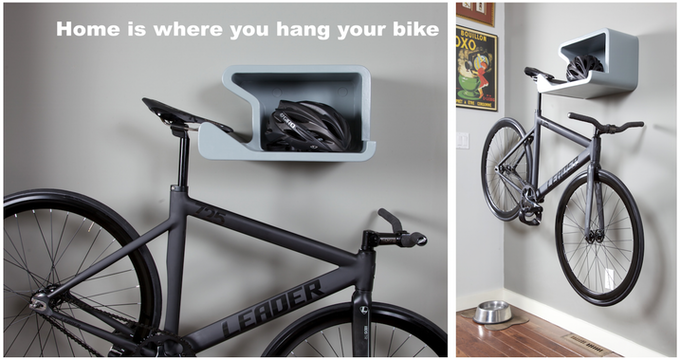 Shelfie Home Is Where You Hang Your Bike By Juergen