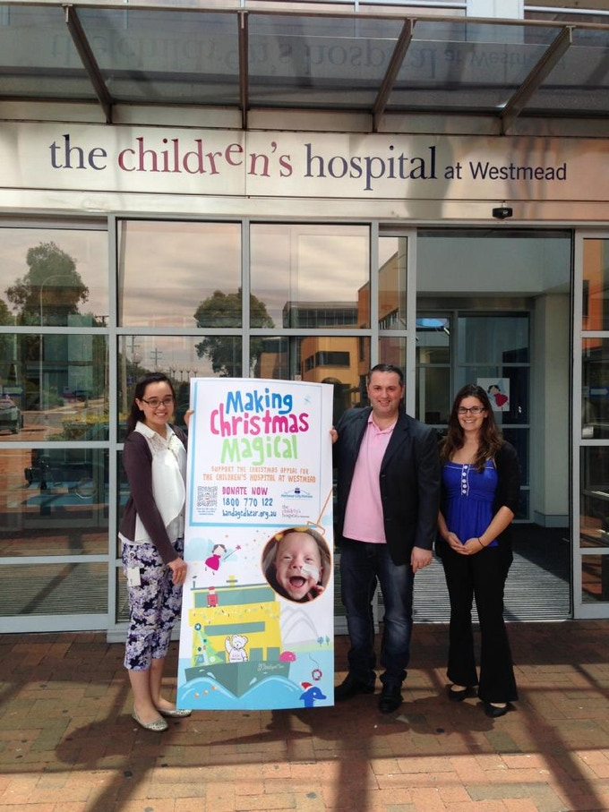 Mario at the launch of Westmead's Christmas Appeal