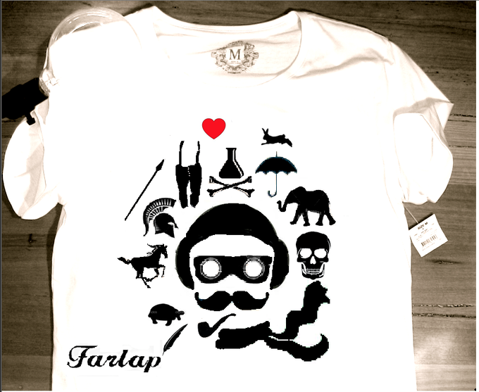 Available in XS, S, M, L - 100% fitted cotton T-Shirt.