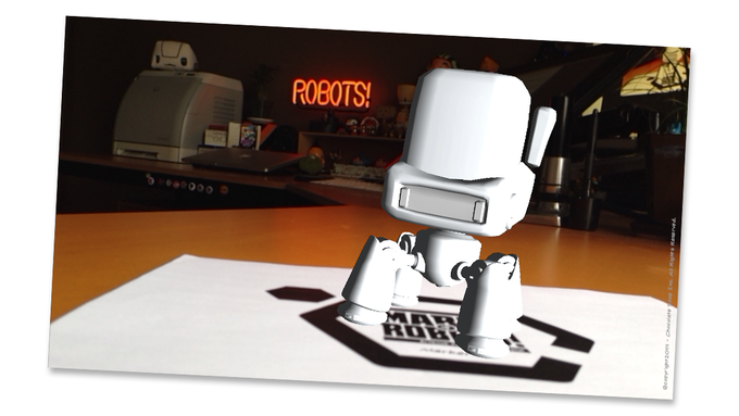 AR test 01 - Little Walker - Modelled by Glen Southern