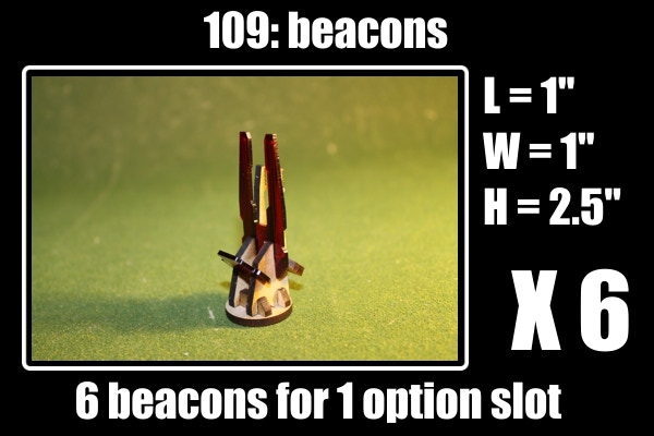 6 beacons for 1 option slot