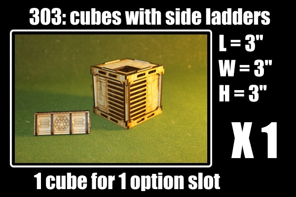 comes with 1 cube, 1 barricade and 1 ladder