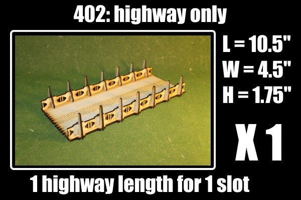 highway section only, 1 slot