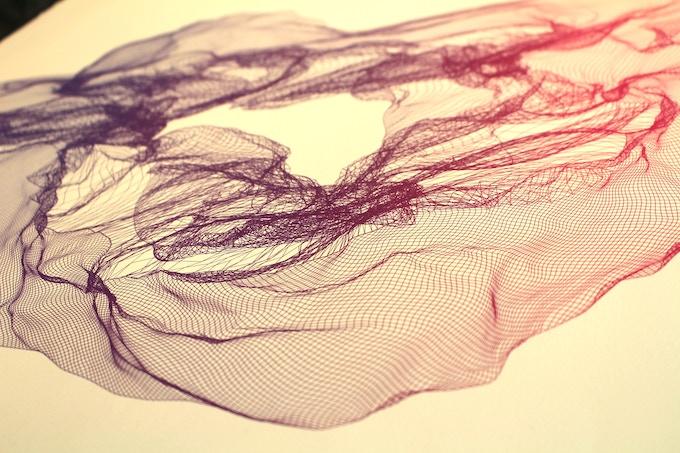 (Detail Shot - Purple to Pink Gradient)