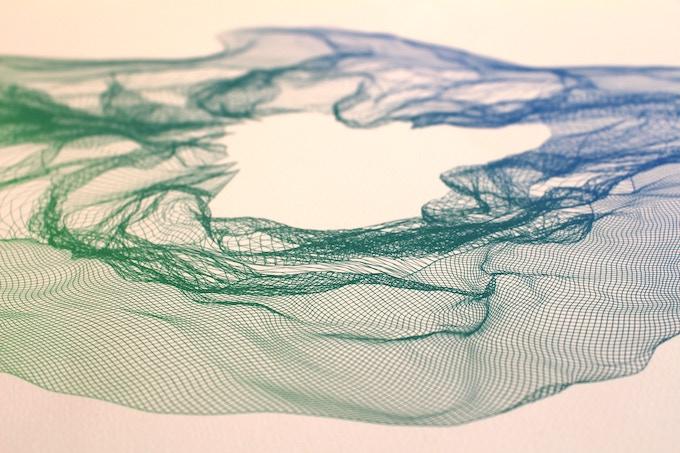 (Detail Shot - Green to Blue Gradient)
