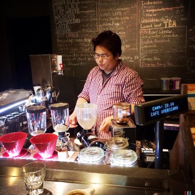 Jimmy looking at the world through the eyes of a barista