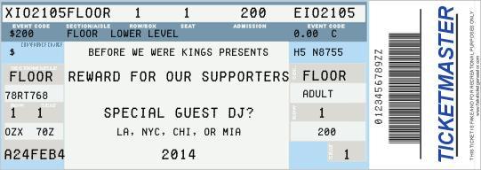 MOCK Ticket