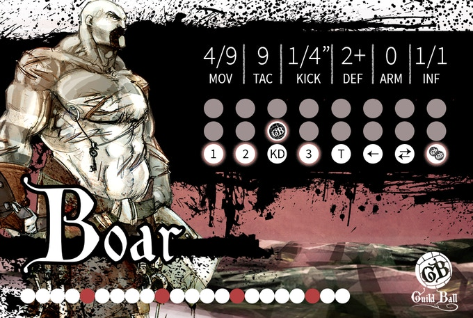 Example of the Front Side of Boar's Card.