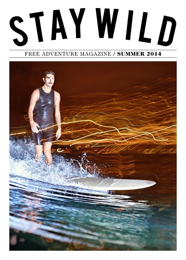 Night Surfing in Honolulu by John Hook