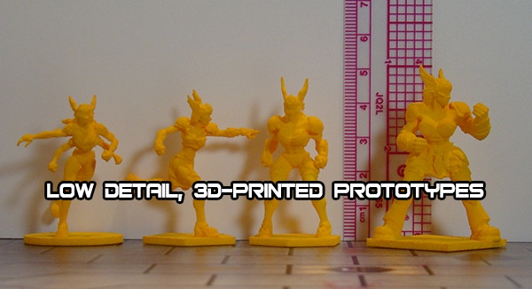 Valkyries team prototypes for size. Figures in product will be higher quality.