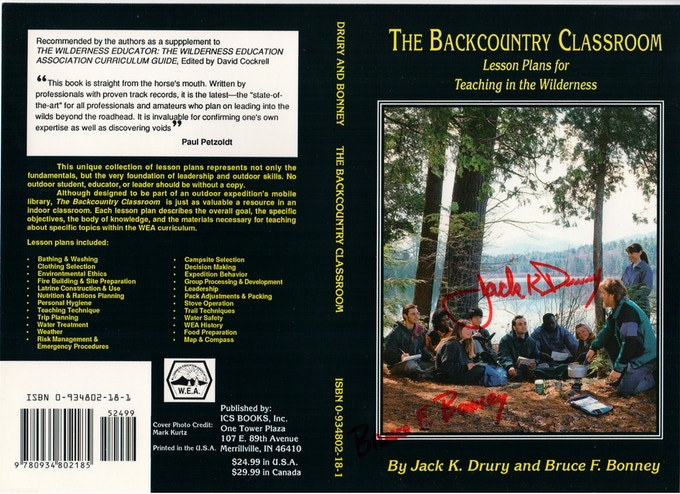 Autographed book flat cover of the first edition available for a donation of $50