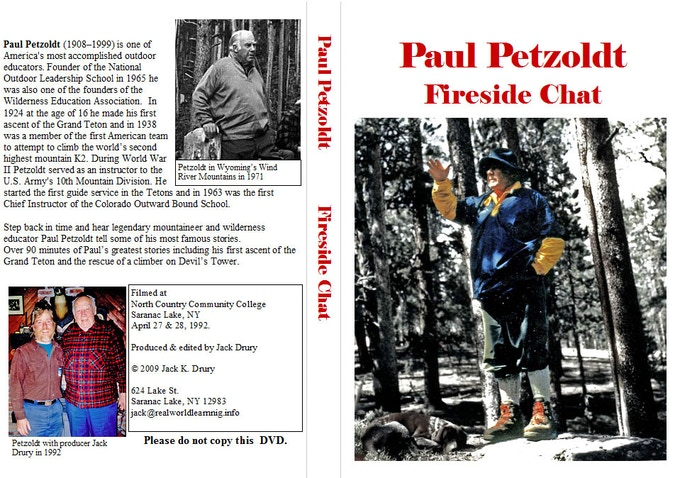 Paul Petzoldt DVD for donations of $250