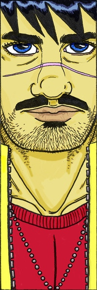 Bullet Face bookmark