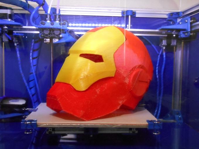 3D Printed Iron Man Helmet. Print your own!