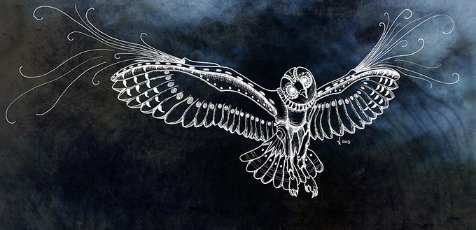 Steam Owl T-Shirt Design.  See the Add Ons to add one of these to your goodies!