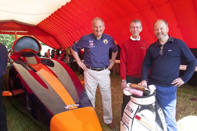 Richard Noble OBE, Bloodhound SSC (left) with Nick Middleton of Zen Works (Right) and Karl Woodward (Centre)