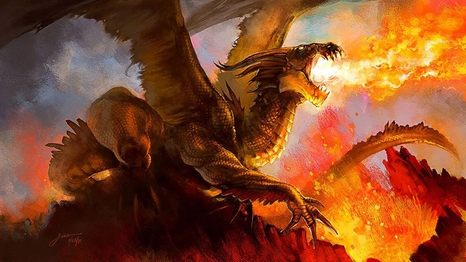 A mighty fire dragon!