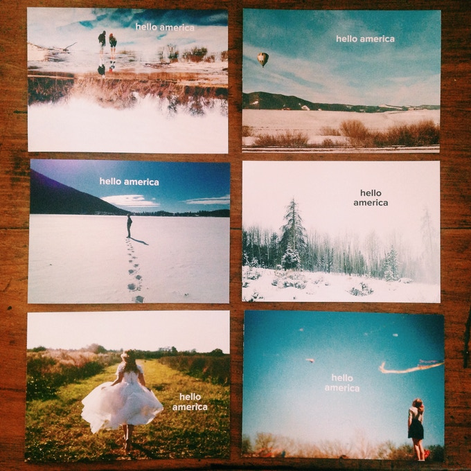 6 of the 20 postcard fronts we have made