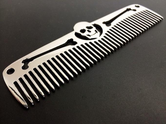 SKULL & BONES - Stainless steel, high polish