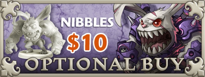 If you'd like Nibbles, just add $10 to your pledge by clicking Manage Pledge from the Arcadia Quest Kickstarter page and we'll sort it out after the Kickstarter ends with our pledge manager.