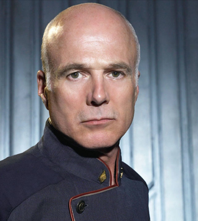 Michael Hogan As Captain Robert April