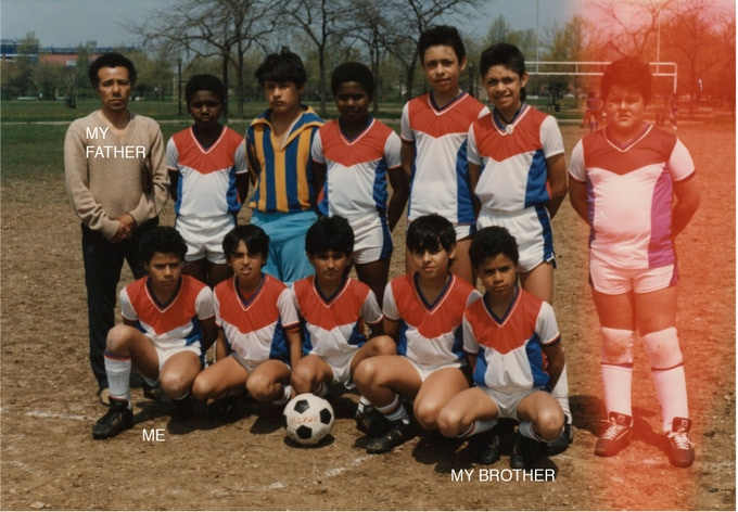 This was the first soccer uniform I designed when I was 12!
