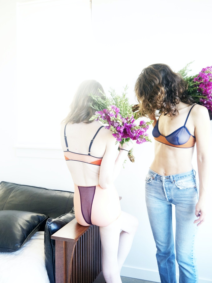 Saray & Meg at Fieldwork Flowers in Portland