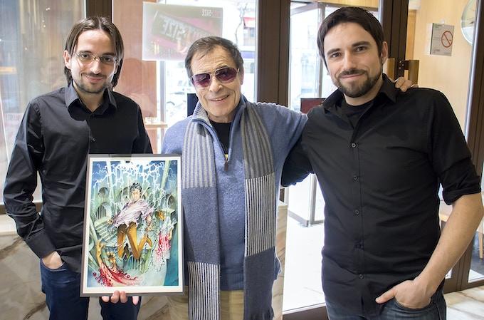 Azpiri, with Mario and Alberto