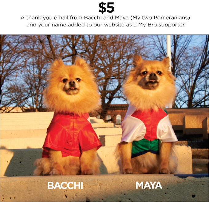 Bacchi and Maya putting on their serious face of dedication and business like attitude