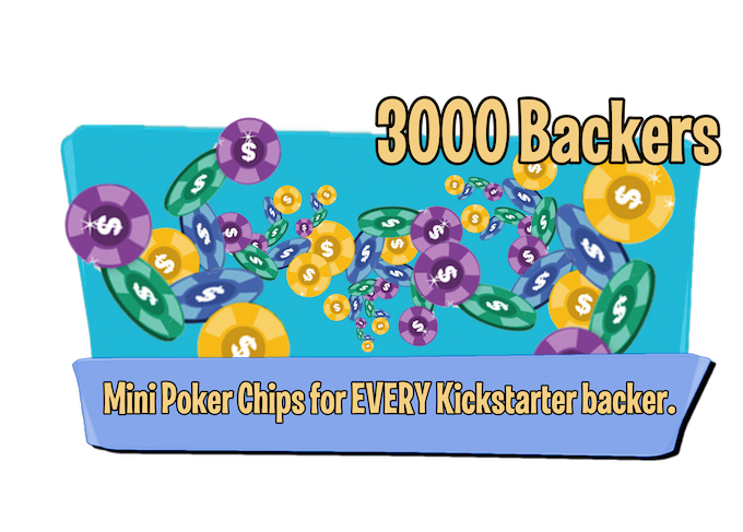 instead of using paper money you can use Mini clay poker chips. When we hit 3000 backers and everyone gets a copy of the game with mini clay poker chips in there kickstarter copy.
