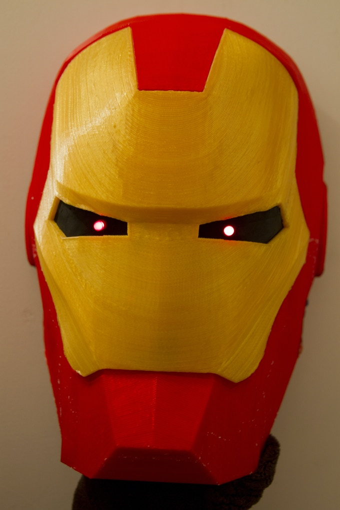 Assembled Iron Man Helmet(with LEDs) Featured In Video (Iron Man by MaximFilms thing:27823)