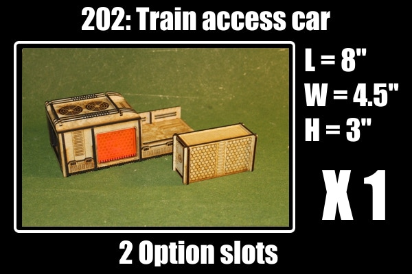 2 options for 1 access cab, 4 slide acrylic doors and 1 train container