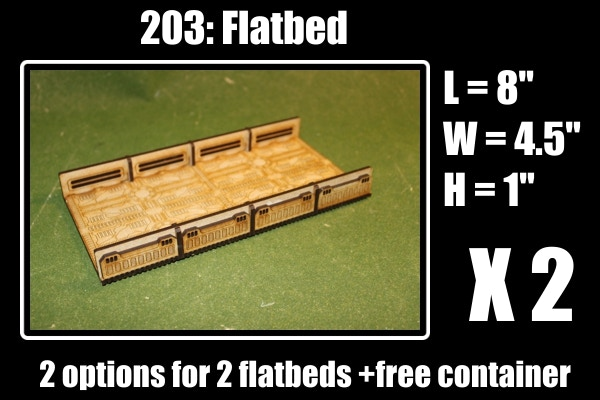 2 slots for 2 flatbeds + 1 free container and a bio hazard barrel at 13K