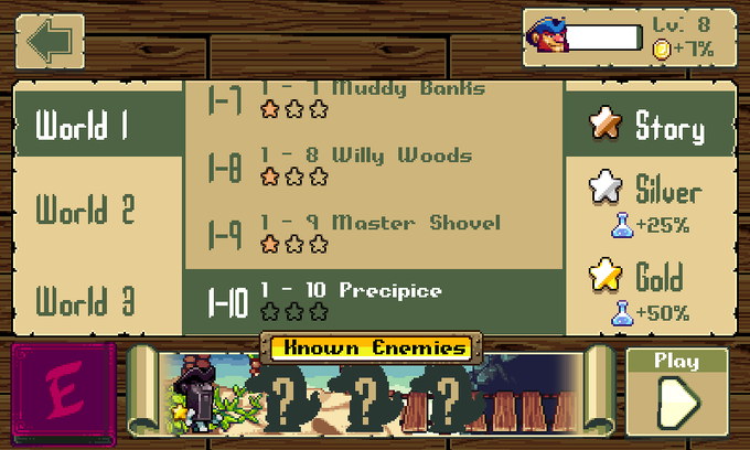 Your level name will display here on the Level Select menu!