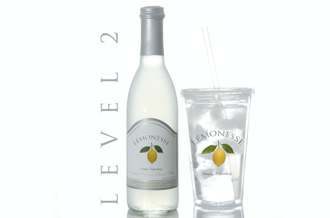 Receive (1) bottle of LÉMONESSE™ organic lemon water and (1) of our eco-friendly tumbler cups.