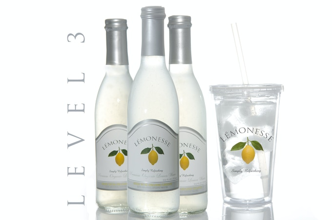 Receive (3) bottle of LÉMONESSE™ organic lemon water and (1) of our eco-friendly tumbler cups.