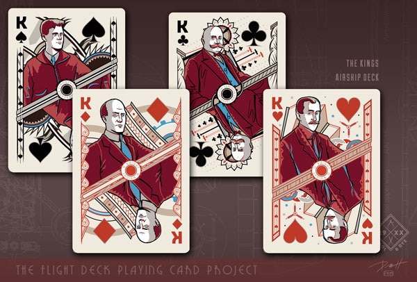Click for Airship Playing Cards Close Up
