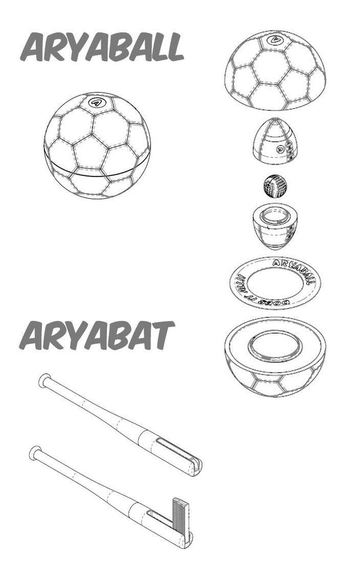 AryaBall: Play 5 Sports with World's Most Fun Ball and Bat