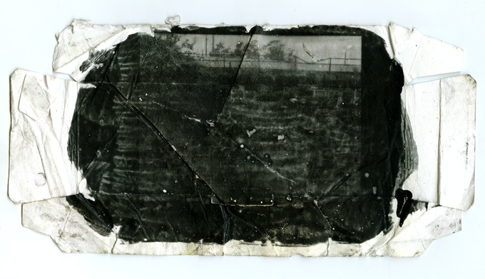 Example of gelatin silver print on trash