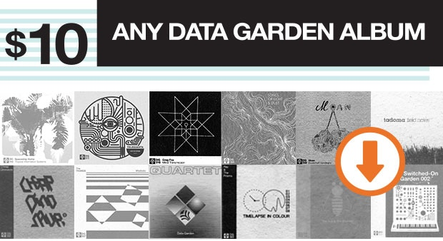 Your choice of a digital download of any album from the Data Garden catalog.