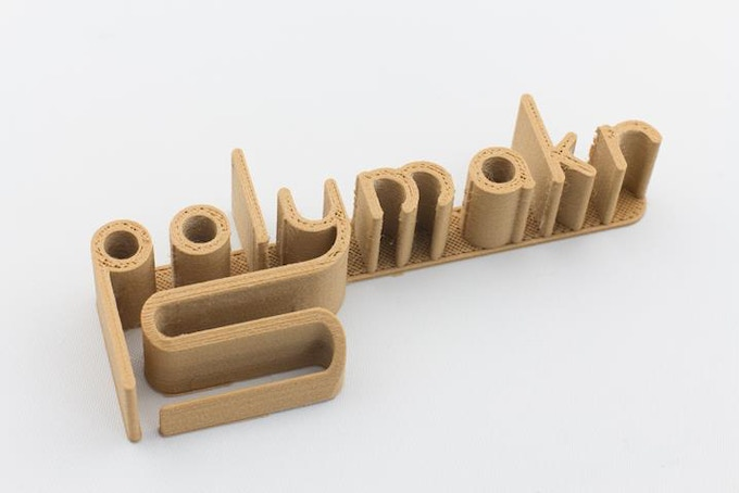 The Polymakr logo printed with PolyWood