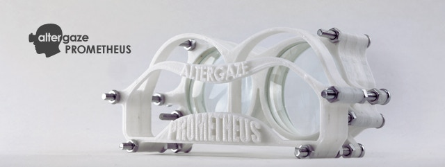 (£50) The base model for Altergaze: Altergaze Prometheus. The core of the Altergaze project: a 3D printed, mobile VR interface. Add £25 for the handheld rubber eyecups.