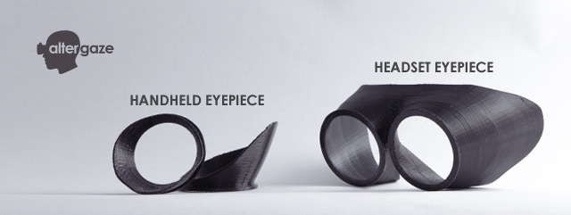 Both rubber eyepieces. The 3D printing files for these will be available to download for all backers. In these images we are showing the 3D printed model, in flexible PLA (rubber like material).