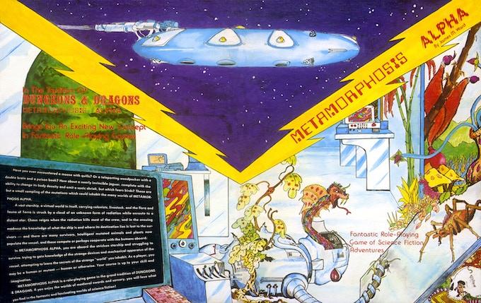 The original 1976 METAMORPHOSIS ALPHA cover art