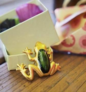 A gift for the launch from a close friend: My own Foggy Frog!